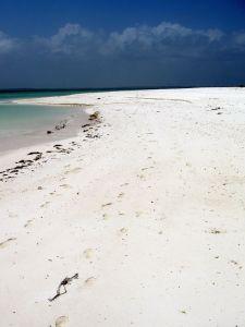 La sabbia bianca di Zanzibar