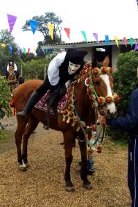 Fausto sale sul cavallo