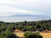 Il mare a Cefalonia dopo la pioggia