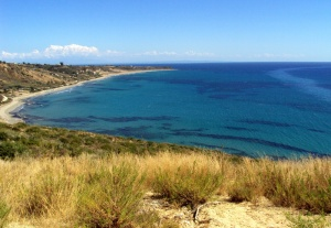 La spiaggia di Kaminia, la punta estrema a sud est di Cefalonia