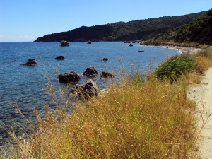 Giro in bici a Cefalonia - la strada da Poros verso Skala